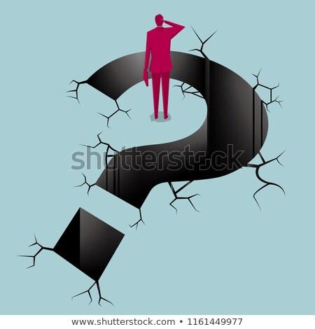 3次元の人々 · 閉じ込められた · 質問 · グレー · 幸せ · 背景 - ストックフォト © Quka