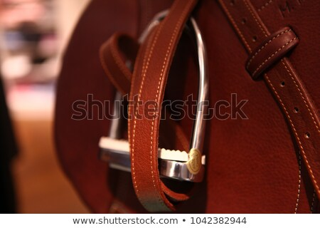 English leather saddle Stock photo © Rybakov
