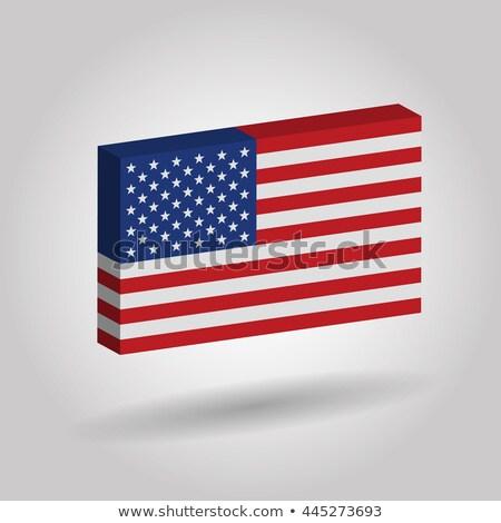 США · карта · иллюстрация · звезды - Сток-фото © lightsource