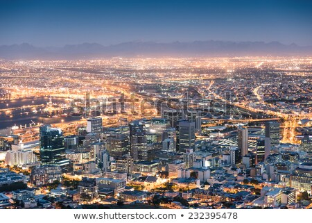 Cape Town after sunset, by dusk  Stock photo © intsys