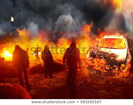 Terörist patlama görüntü insanlar çalışma Stok fotoğraf © xochicalco