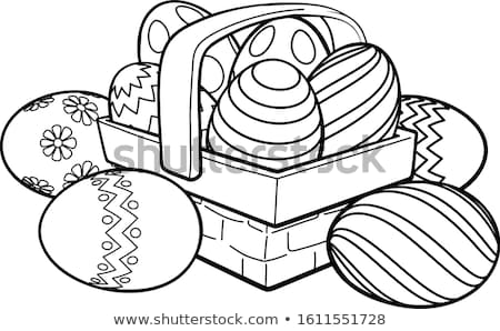Easter basket with colorful eggs Stock photo © Pasiphae
