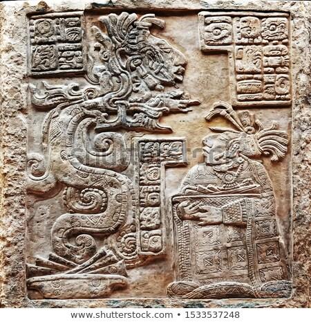 Oude kalksteen Mexico dating scène kunst Stockfoto © Snapshot