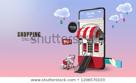 üzlet · online · vásárlás · felirat · kék · internet · technológia - stock fotó © tashatuvango