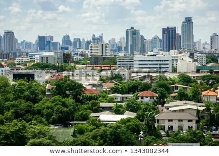 habitação · Tailândia · casa · edifício · árvores · verde - foto stock © joyr
