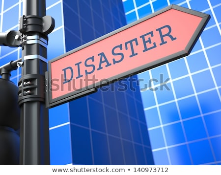 Disaster Concept. Red Roadsign Arrow. Stock photo © tashatuvango