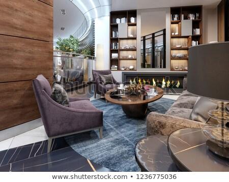 Hôtel vintage bois meubles étage canapé Photo stock © ifeelstock