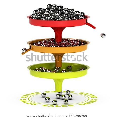 Stok fotoğraf: Sales Funnel Ecommerce Conversion Rate