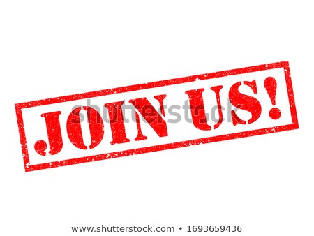 join red rubber stamp over a white background Stock photo © fotoscool