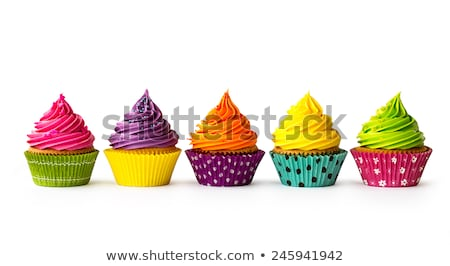 Foto stock: Colourful Cupcakes