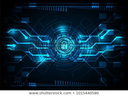 at sign padlock shows secure internet mail stock photo © stuartmiles