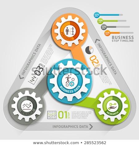 triangle gears infographic design stock photo © limbi007