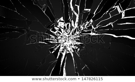 Destruction: pieces of cubic shattered glass isolated Stock photo © Arsgera