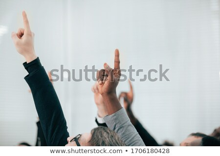 Businessman pointing an accusatory finger Stock photo © smithore