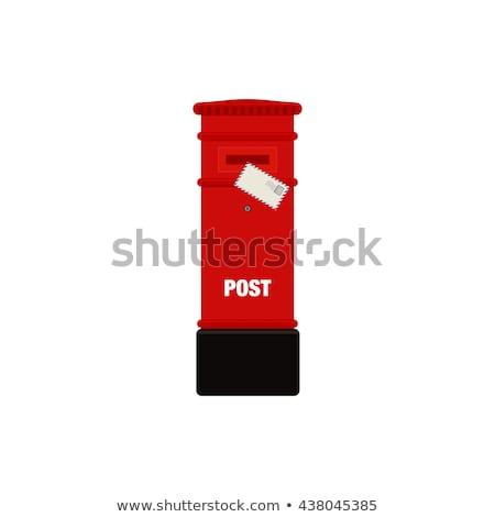 Posta doboz színes levelek absztrakt papír Stock fotó © ra2studio