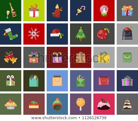 Iconos colección establecer 12 rojo plata Foto stock © timurock