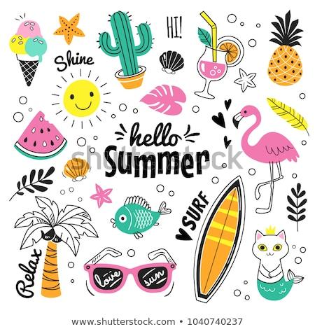 Verão cor vetor ícones colorido Foto stock © Slobelix
