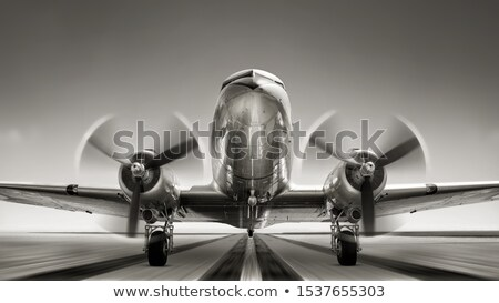 Propeller Airplane Retro Stock photo © patrimonio