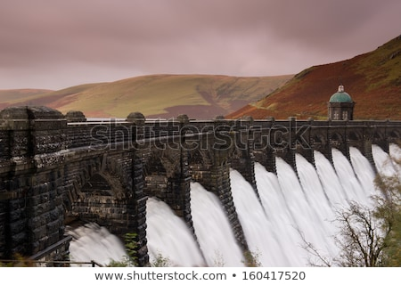воды долины Уэльс небе весны строительство Сток-фото © latent