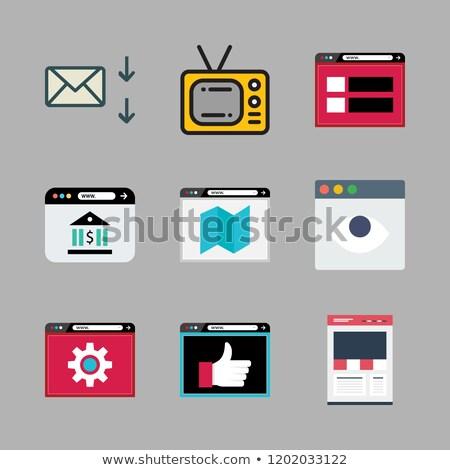 электронная почта знак ноутбука переписка почты связи Сток-фото © stuartmiles