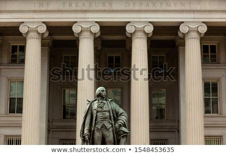 US Treasury Department Albert Gallatin Statue Close Up Washingto Stock photo © billperry