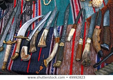 vadászat · kés · fehér · szarvas · agancs · izolált - stock fotó © lucielang