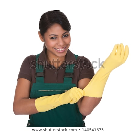 Young Female Gardner Wearing Gloves Stock photo © AndreyPopov
