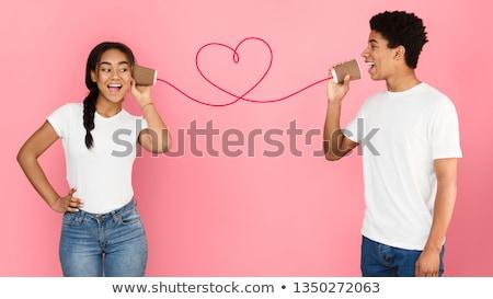 girl speaks on telephone stock photo © ssuaphoto