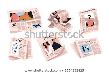 Daily News on Yellow in Flat Design. Stock photo © tashatuvango