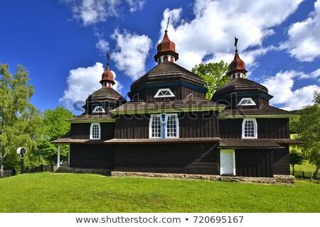 Ahşap kilise Slovakya mimari Avrupa açık havada Stok fotoğraf © phbcz