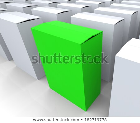 blank box copyspace means stand out leader or individual stock photo © stuartmiles