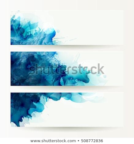 Mooie Blauw abstract drie ingesteld Stockfoto © bharat