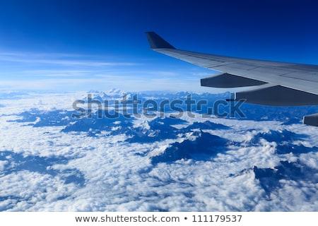 Madarak kilátás repülőgép hegyek sarkköri körül Stock fotó © meinzahn