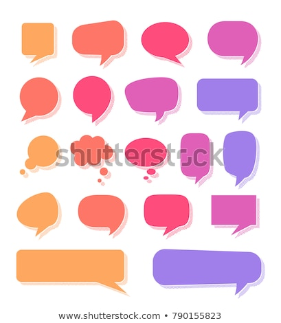 Chat cuadro naranja azul dos vector Foto stock © Designer_things