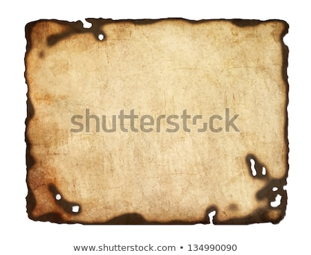 old dark edged paper as papyrus isolated stock photo © impresja26