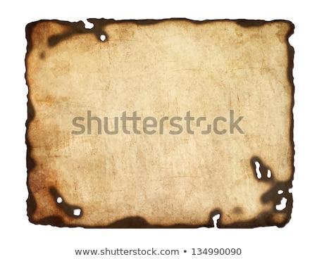 Oude donkere papier papyrus geïsoleerd witte Stockfoto © impresja26