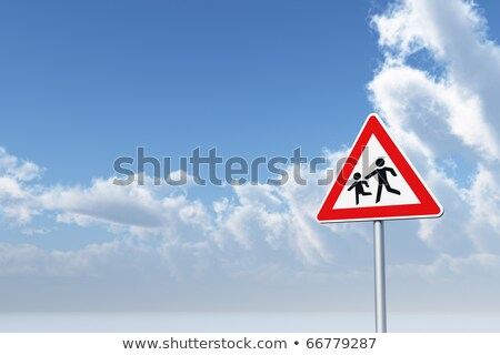 Red playground road sign. Stock photo © latent