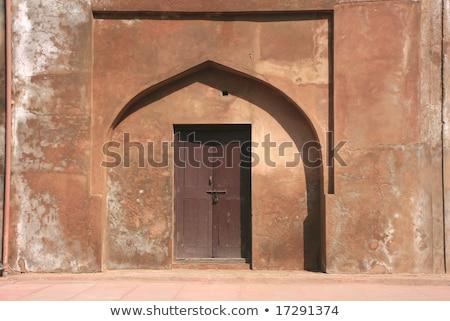 locked door at agra red fort stock photo © meinzahn