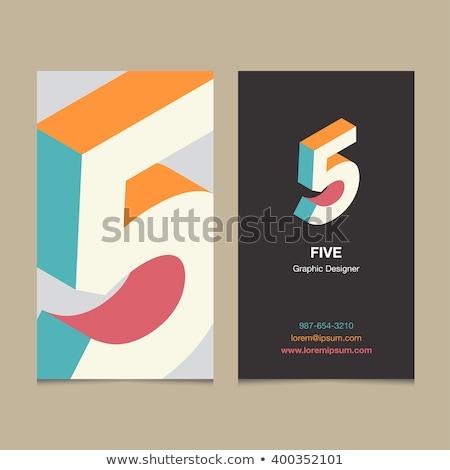 ロゴデザイン 5 色 デザイン 成功 会社 ストックフォト © opicobello