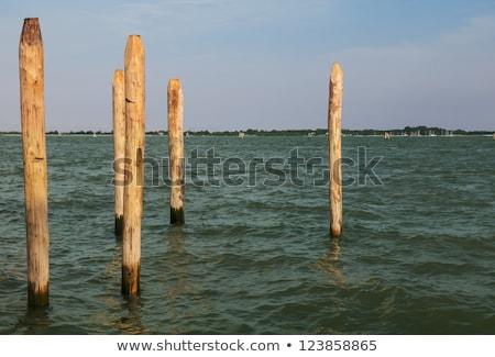 Ahşap kutup sahil liman dok kenar Stok fotoğraf © Mps197