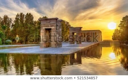 egipcjanin · świątyni · Madryt · Hiszpania · rok · starych - zdjęcia stock © vichie81