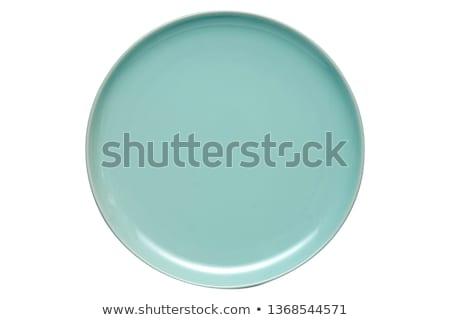 Ceramica piattino bianco blu clean cottura Foto d'archivio © punsayaporn