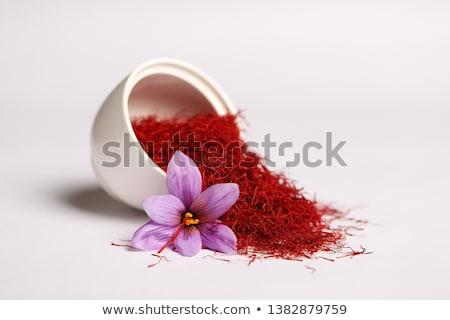 Safran mükemmel kırmızı yalıtılmış beyaz Stok fotoğraf © zhekos