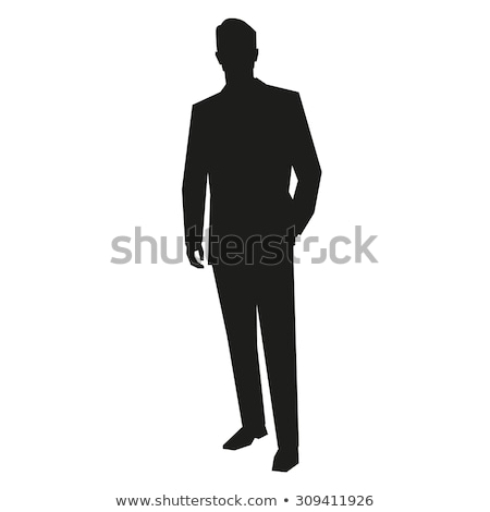 business man silhouettes  stock photo © Slobelix