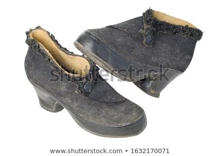 Bağbozumu kadın ayakkabı beyaz Stok fotoğraf © RedDaxLuma