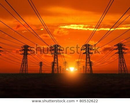 moc · wieża · dziedzinie · działalności · budowy · metal - zdjęcia stock © olandsfokus