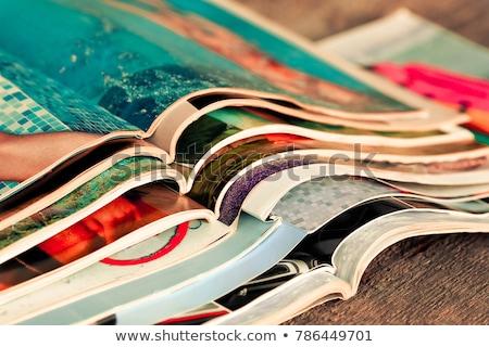 Colorido revistas tabela biblioteca negócio Foto stock © Valeriy