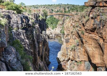 ストックフォト: 南アフリカ · パノラマ · ルート · ビッグ · 峡谷