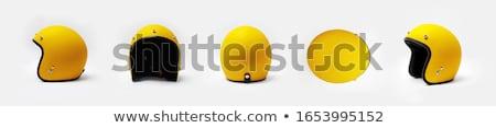 白 現代 スクーター ヘルメット 孤立した ストックフォト © Kor