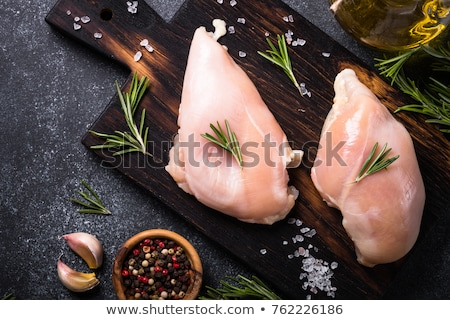 Raw Chicken Breasts background Stock photo © njnightsky